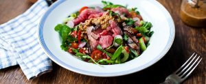 Salade van Black Angus Ossenhaas met Aziatische dressing