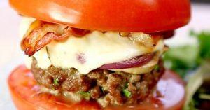 Tomatenburger met spek